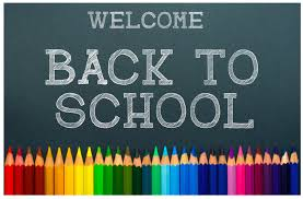 Welcome back to school on Monday 31st August.